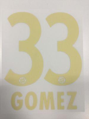 Original FC Bayern München Trikot-Flock 23cm - GOMEZ 33