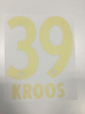 Original FC Bayern München Trikot-Flock 17cm - KROOS 39