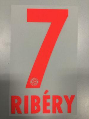 Original FC Bayern München Trikot-Flock 17cm - RIBÉRY 7