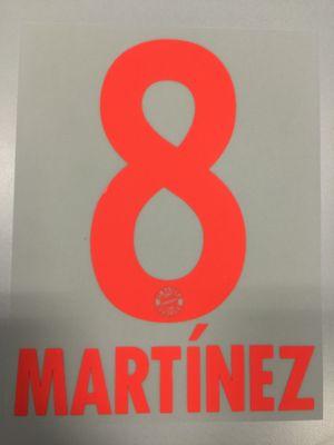 Original FC Bayern München Trikot-Flock 17cm - MARTÍNEZ 8