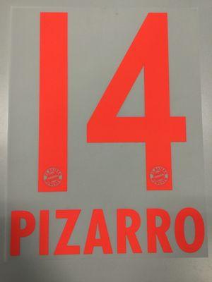 Original FC Bayern München Trikot-Flock 17cm - PIZARRO 14
