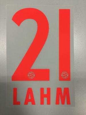 Original FC Bayern München Trikot-Flock 23cm - LAHM 21