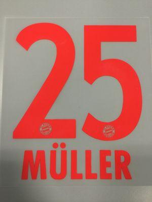 Original FC Bayern München Trikot-Flock 23cm - MÜLLER 25