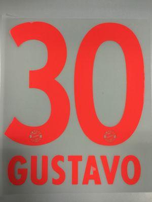 Original FC Bayern München Trikot-Flock 23cm - GUSTAVO 30