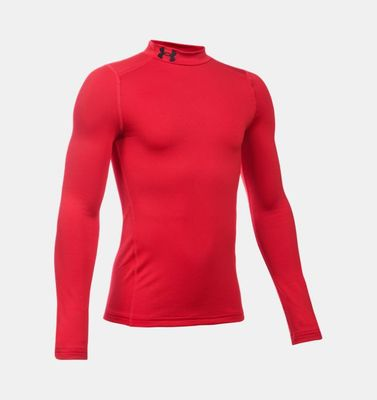 under armour MOCK - Longsleeve langarm Kinder rot
