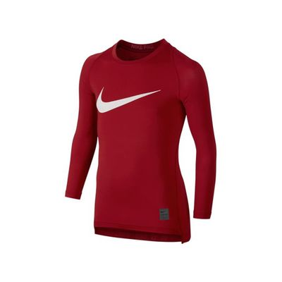 nike COMPRESSION SHIRT langarm Kinder rot