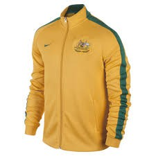 nike AUSTRALIA N98 Authentic Trainingsjacke gelb-grün – Bild 1