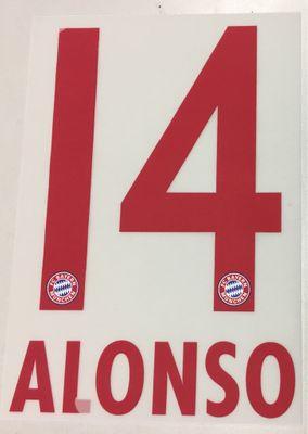 Original FC Bayern München Trikot-Flock 17cm - ALONSO 14