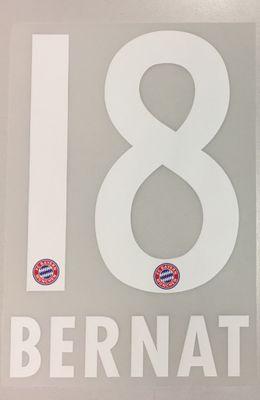Original FC Bayern München Trikot-Flock 17cm - BERNAT 18