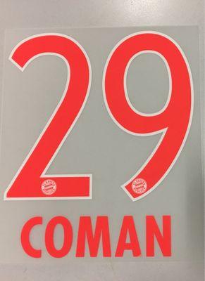 Original FC Bayern München Trikot-Flock 17cm - COMAN 29