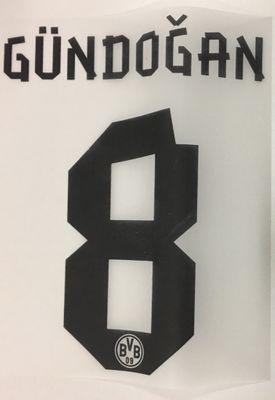 Original BVB Borussia Dortmund Trikot-Flock 17cm - GÜNDOGAN 8
