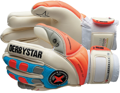 derbystar APS DEFENDER TW-Handschuh weiß-blau-orange