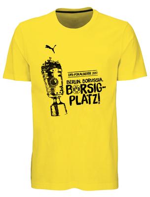 puma BVB BORUSIA DORTMUND Shirt Herren DFB-Pokalsieger 2017