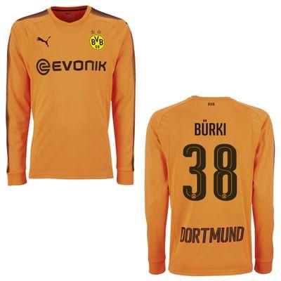 puma BVB BORUSSIA DORTMUND Trikot Torwart Herren orange 2017 / 2018 - BÜRKI 38 – Bild 1