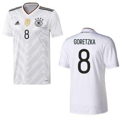 adidas DFB DEUTSCHLAND Trikot Home Kinder Confederations Cup 2017 - GORETZKA 8 – Bild 1