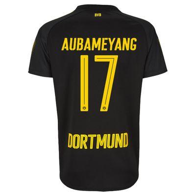 puma BVB BORUSSIA DORTMUND Trikot Away Herren 2017 / 2018 - AUBAMEYANG 17 – Bild 2
