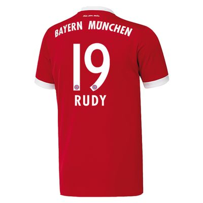 adidas FC BAYERN MÜNCHEN Trikot Home Herren 2017 / 2018 - RUDY 19 – Bild 2