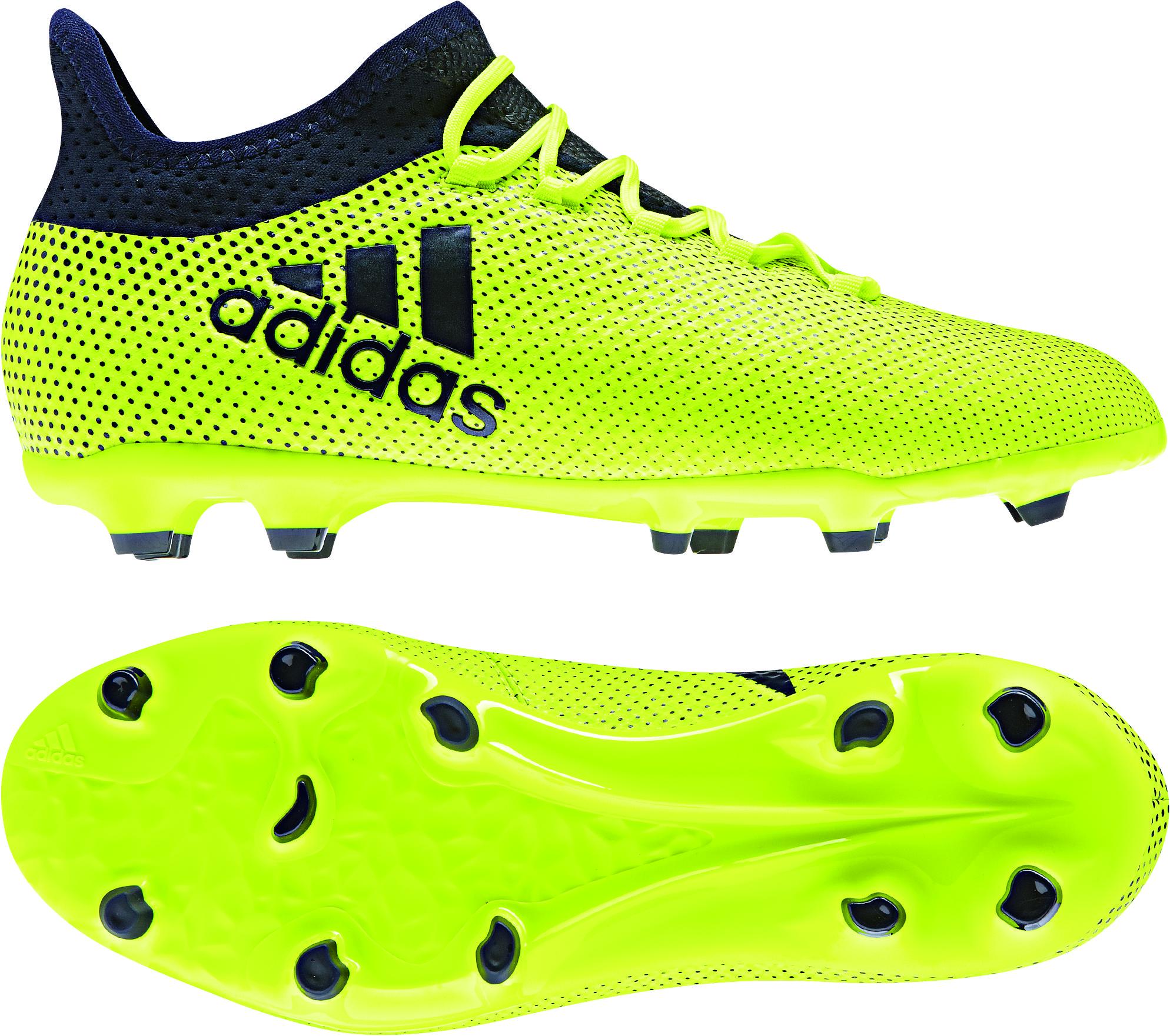Adidas X 17 1 Fg Kinder Neongelb Schwarz