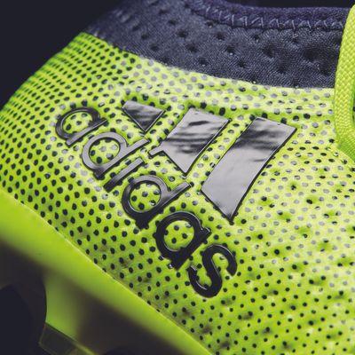 adidas X 17.1 FG Kinder neongelb-schwarz – Bild 2