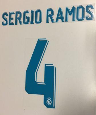 Original Real Madrid Trikot-Flock 17cm - SERGIO RAMOS 4