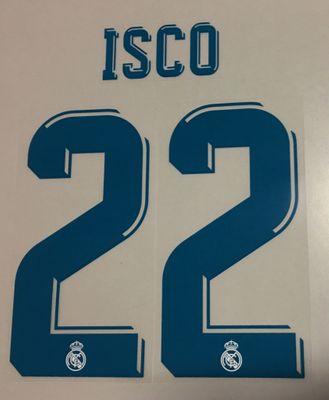 Original Real Madrid Trikot-Flock 25cm - ISCO 22