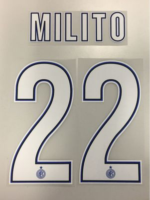 Original Inter Mailand Trikot-Flock 25cm - MILITO 22