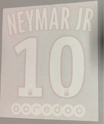 Original Paris-Saint Germain Trikot-Flock 16cm - NEYMAR JR 10 – Bild 1