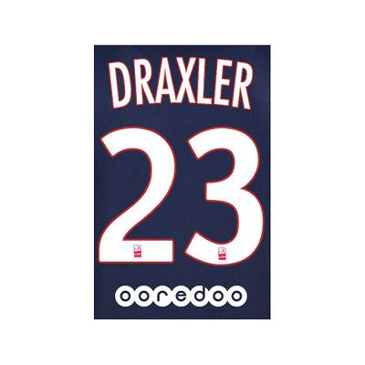 Original Paris-Saint Germain Trikot-Flock 16cm - DRAXLER 23 – Bild 2