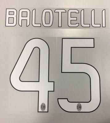 Original AC Mailand Trikot-Flock 25cm - BALOTELLI 45