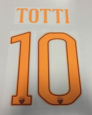 Original AS Rom Trikot-Flock 25cm - TOTTI 10