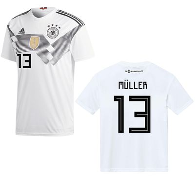 adidas DFB DEUTSCHLAND Trikot Home Herren WM 2018 - MÜLLER 13 – Bild 1