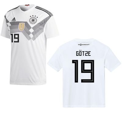 adidas DFB DEUTSCHLAND Trikot Home Herren WM 2018 - GÖTZE 19 – Bild 1