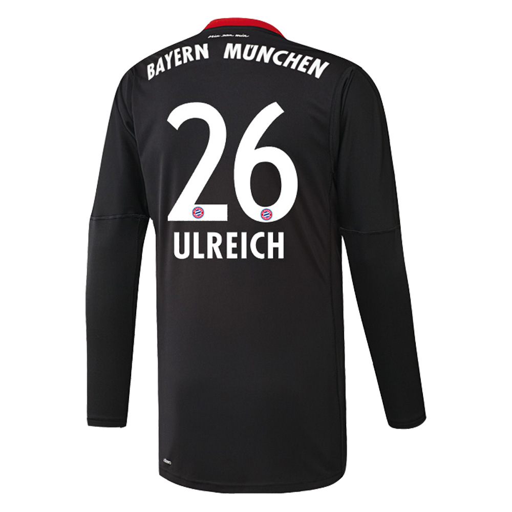 adidas fc bayern m nchen trikot torwart home herren 2017 2018 ulreich 26 fantrikots. Black Bedroom Furniture Sets. Home Design Ideas