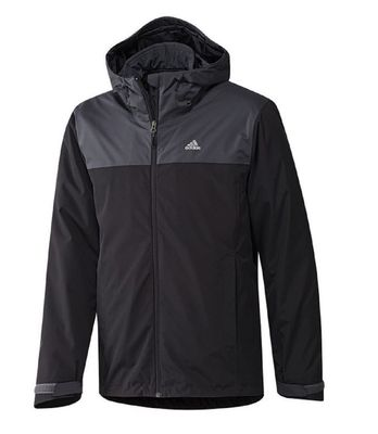 adidas OUTDOORJACKE 3in1 Herren schwarz