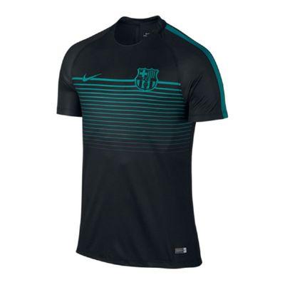 FC BARCELONA Trainingshirt Herren schwarz-türkis