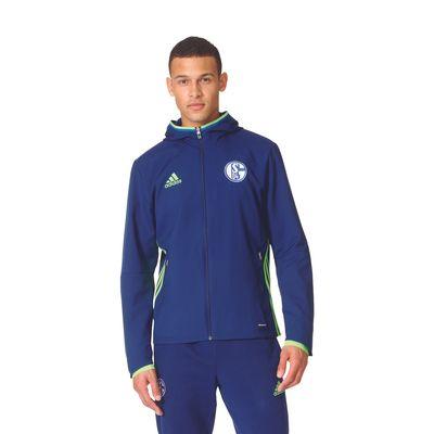 adidas FC SCHALKE 04 Präsentationsjacke Kinder blau – Bild 2