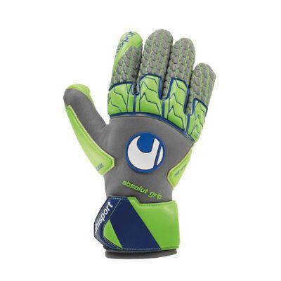 uhlsport TENSIONGREEN ABSOLUTGRIP REFLEX TW-Handschuh grau-grün – Bild 1
