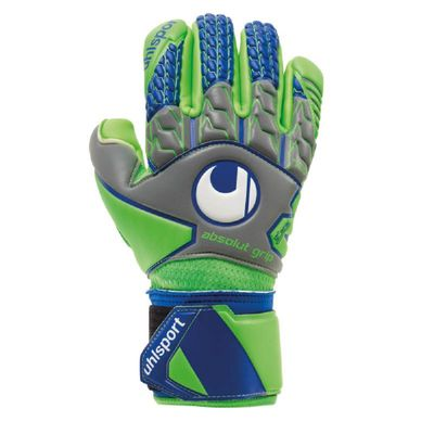 uhlsport TENSIONGREEN ABSOLUTGRIP Finger TW-Handschuh grau-grün-blau – Bild 1