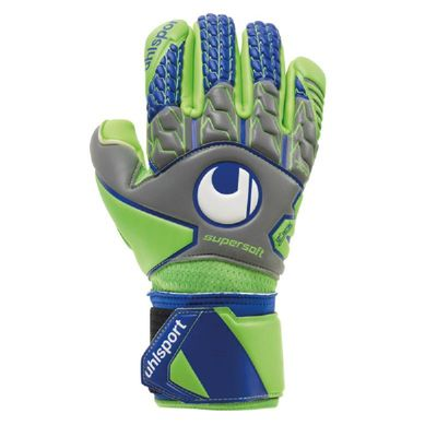uhlsport TENSIONGREEN SUPERSOFT HN TW-Handschuh grau-grün – Bild 1