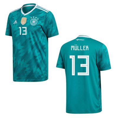 adidas DFB DEUTSCHLAND Trikot Away Kinder WM 2018 - MÜLLER 13 – Bild 1