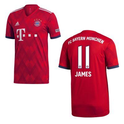 adidas FC BAYERN MÜNCHEN Trikot Home Kinder 2018 / 2019 - JAMES 11 – Bild 1