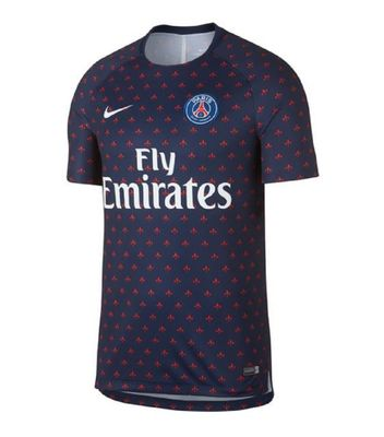 nike PSG PARIS SAINT-GERMAIN Squad Trainingsshirt Herren blau – Bild 1