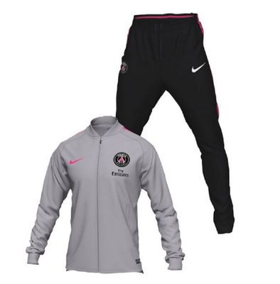 nike PSG PARIS SAINT-GERMAIN Trainingsanzug Herren schwarz-grau