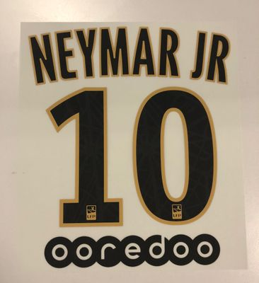 Original Paris Saint-Germain Trikot-Flock 20cm - NEYMAR JR 10