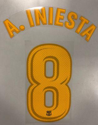 Original FC Barcelona Trikot-Flock 25cm - A. INIESTA 8