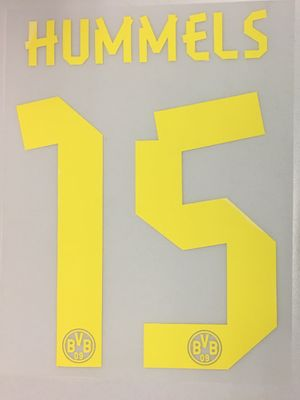 Original BVB Borussia Dortmund Trikot-Flock 17cm - HUMMELS 15