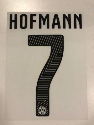Original BVB Borussia Dortmund Trikot-Flock 17cm - HOFMANN 7