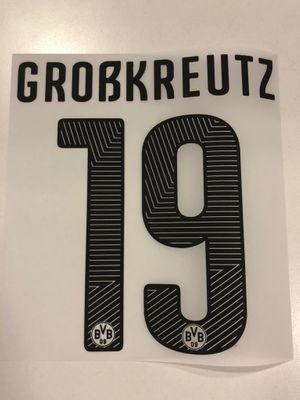 Original BVB Borussia Dortmund Trikot-Flock 17cm - GROßKREUTZ 19