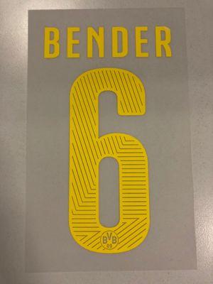 Original BVB Borussia Dortmund Trikot-Flock 17cm - BENDER 6
