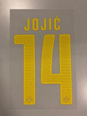 Original BVB Borussia Dortmund Trikot-Flock 17cm - JOJIC´ 14